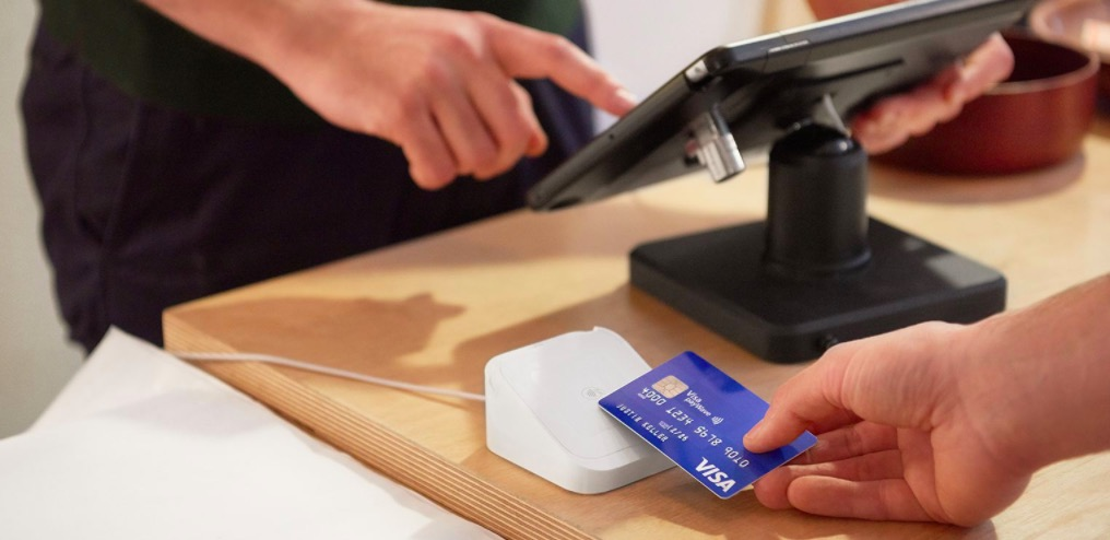 Square Reader on a counter