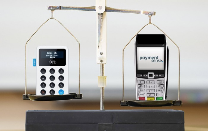 Paymentsense and iZettle card machines on scale