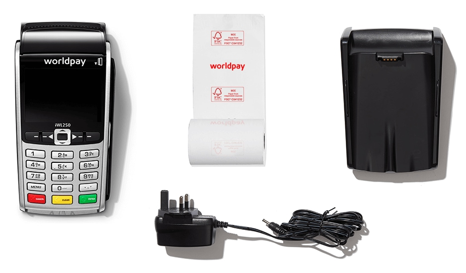 Worldpay portable terminal package contents